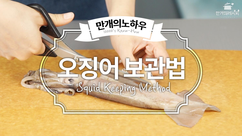 오징어 보관법